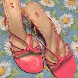 12 M BP Nordstrom Bright Pink Patent Sandals